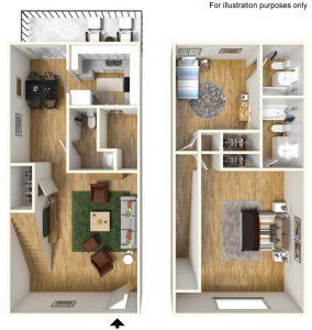 3D Floorplans for Townes at Bishops Park